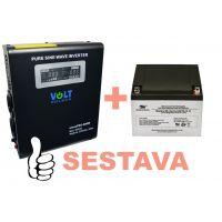Záložní zdroj 500W, sinusPRO-800W + AKU 24Ah