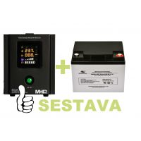 Záložní zdroj MHPower MPU-300-12 + baterie ML12-40