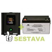 Záložní zdroj MHPower MPU-300-12 + baterie ML12-65