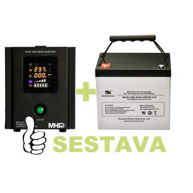 Záložní zdroj MHPower MPU-300-12 + baterie ML12-70