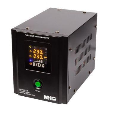 Záložní zdroj MHPower MPU-300-12, UPS, 300W, čistý sinus, 12V