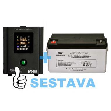 Záložní zdroj MHPower MPU-500-12 + baterie ML12-65