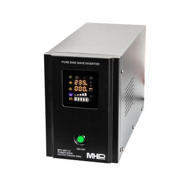 Záložní zdroj MHPower MPU-800-12, UPS, 800W, čistý sinus, 12V